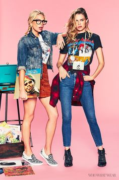 Erin and Sara Foster of 'Barely Famous' pose exclusivey for #WhoWhatWear as typical Venice hipsters // Photo: Justin Coit