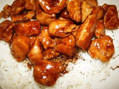 Bourbon Chicken. Made this on Thursday. It was delish. Save the extra sauce in the pan for the rice.