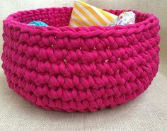 Crochet Basket,  Berries Organizer Home, Eco Decor, Gift for Her, Home decor, bathroom decor