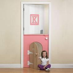 Child's Mini Door In Pink : Toys For Girls at PoshTots