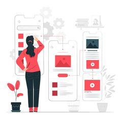 Discover thousands of free-copyright vectors on Freepik Design Ui Ux, Vector Design, Graphic Design, User Flow, Wireframe, Mobile App Development Companies, Application Development, Design Development, Professional Web Design