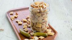 Dill Pickle Ranch Chex™ Mix Classic Chex™ party mix is addictive enough, but this summer, we're going crazy and adding a kiss of ranch and an irresistible dill-pickle punch. Homemade Chex Mix, Homemade Gifts, Appetizer Recipes, Snack Recipes, Party Recipes, Yummy Appetizers, Diabetic Recipes, Chex Party Mix, Chex Mix Recipes