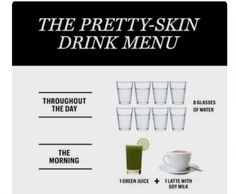 The Pretty-Skin Drink Menu #Beauty #Musely #Tip