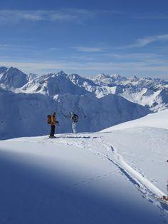 All Alberg!  Glorious day above the Stuben ski area.