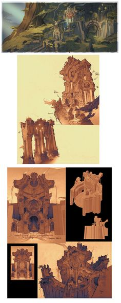 Designs de Paul Richards para o game Darksiders II   THECAB - The Concept Art Blog