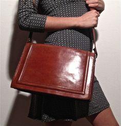 big+vintage+brown+leather+bag+festival+kelly+by+ilvecchioarmadio,+€38.00