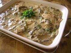 Arabic Bites: Chicken with Creamy Mushroom Sauce
