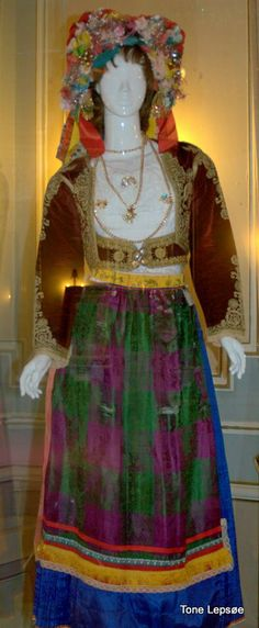 """Nationalsuit.  Achillion Palace Corfu. Greece. 17. may 2014. The Palace was built in the 1890's as a summer palace for """"Sissi"""", Austria's Empress Elizabeth (King Otto of Greece was her uncle). Elisabeth of Austria (24 December 1837 – 10 September 1898) was the wife of Emperor Franz Joseph I, and thus Empress of Austria and Queen of Hungary. She was called the tragical empress. TONE LEPSOES PICTURES."""