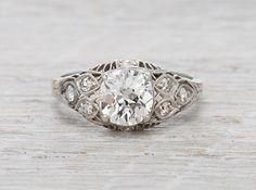 1.18 Carat Vintage Engagement Ring