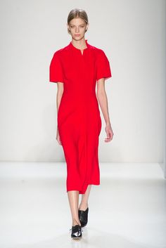 What's Black, White and Red Carpet Ready? Victoria Beckham Fall 2014!: Did Victoria Beckham's famous friends ask her to include gowns again in her Fall 2014 collection, because they are made for gliding down a red carpet.