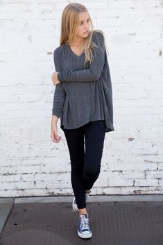 RIE TOP from Brandy Melville. Shop more products from Brandy Melville on Wanelo. Converse Outfits, Casual Outfits, Cute Outfits, Fall Winter Outfits, Autumn Winter Fashion, Look Chic, Looks Cool, Mode Inspiration, Mannequins