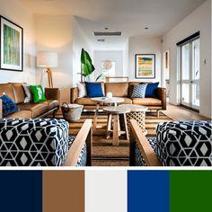 como escolher cores para salas