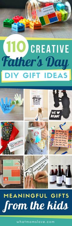 Best DIY Fathers Day Gift Ideas from kids | Easy crafts, free printables, meaningful cards, fun food and more unique projects for Dad or Grandpa that your kids can make! #fathersday #giftsfordad #giftideas #diygifts
