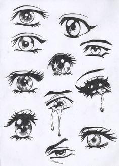 Sad anime and manga eyes.    Follow Steve Garvin on Pinterest for more Illustration How-to's **