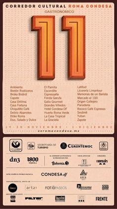 11 Corredor Cultural Roma Condesa (gastronómico) - 29 y 30 de noviembre - 1ro de diciembre - ccromacondesa.mx