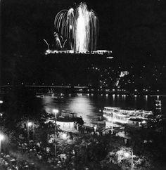 Tűzijáték a Gellérthegyen, 1939 Fotó: Járai Rudolf