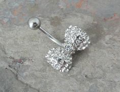 Crystal Bow Belly Button Ring Jewelry on Etsy, $14.00