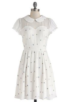 The Nature of the Neighborhood Dress, #ModCloth   I really need a couple of these Peter Pan collared, sheer-necked summer dresses for my life. I love them!