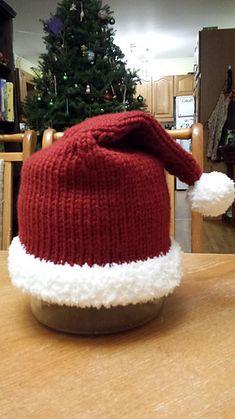 Ravelry: Full Brim Santa Hat pattern by Robyn Fiori Christmas Knitting, Santa Hat, Ravelry, Winter Hats, Pattern, Knitting Patterns Baby, Tejidos, Bebe, Patterns