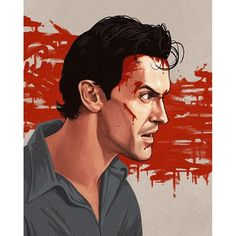 #Ash from the #awesome #portrait series by @sirmitchell Gotta check out some of his #classic #movie art. #EvilDead #movies #horror #scifi #80s #90s #painting #boomstick #thisismyboomstick