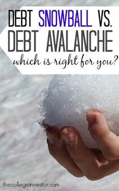 Having a plan can help you realize that debt is not forever, and that it is possible to be debt free.  So what's the best debt payoff method for you? http://thecollegeinvestor.com/15628/snowball-vs-avalanche-best-debt-payoff-method/