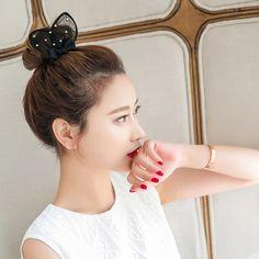>> Click to Buy << Korea Flower Yarn Pearl Hair Accessories Rabb Hair Bows Elastic Hair Bands Rubber Band Hair Ring Headbands For Women #Affiliate