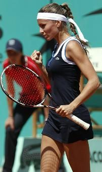 Gisela Dulko of Argentina engineered the first upset of the 2010 French Open, topping the 10th seed, Victoria Azarenka of Belarus, 6-1, 6-2, 2010