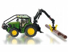 The Siku 1/32 John Deere Forestry Tractor is a  superbly detailed diecast model in the Trailers and Farm Machinery  Collection. Discounts available on all Siku products at Wonderland Models..