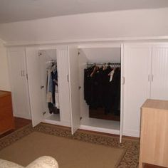 Attic Closets along one wall instead of closing off one whole end.