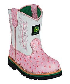Infant Classic Pull-On Boot - Pink Ostrich. Every little girl needs a pair of pink cowgirl boots. She had these in newborn. Pink Cowgirl Boots, Little Cowgirl, Cowboy Boots, Cowboy Baby, Western Boots, Baby Girl Shoes, My Baby Girl, Baby Love, Pink Girl