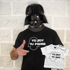 """Camisetas """"Yo soy tu padre"""" y """"Yo soy tu hijo"""", perfectas para el dia del padre.   http://www.lolacamisetas.com/product_info.php?cPath=51&products_id=540"""