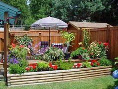 jardin con flores coloridas