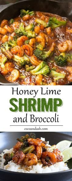 This HONEY LIME SHRIMP is the perfect quick and easy dinner that's full of so much flavor!!