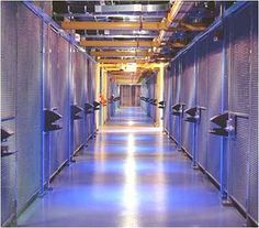 The cages housing customer equipment inside an Equinix data center in Ashburn, VA a hub of digital traffic flow.  #Equinix #Data #Internet