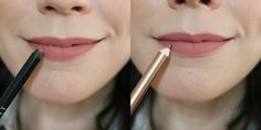 Neutral Lip Liners: Dior Lip liner in Grege (left) and Charlotte Tilbury lip liner in Pillowtalk (right)