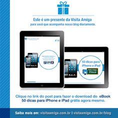 Confira o presente que a Visita Amiga tem para você.  Acesse: http://visitaamiga.com.br/blog/ebook-50-dicas-para-iphone-e-ipad/  Tem amigos que tem #iPhone ou #iPad? Então compartilhe esse post nas redes sociais ou presenteie o .pdf recheado de dicas. É grátis