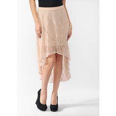 hi-low lace skirt