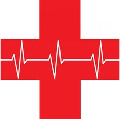 Red image of Red Cross symbol with heart rhythm across it. Cpr Songs, Canadian Red Cross, Heart Rhythms, Red Images, Hand Painted Rocks, First Aid Kit, Activities For Kids, Symbols, Train