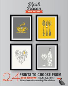 kitchen prints pegasus sinks 33 best home remodeling images decor yellow wall gray art mustard dining room
