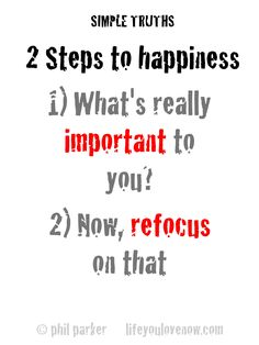 2 steps to happiness
