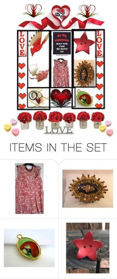 """""""Valentine Love"""" by sylvia-cameojewels ❤ liked on Polyvore featuring art"""