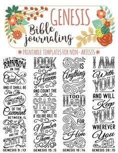 Afbeeldingsresultaat voor bible journaling genesis free printable