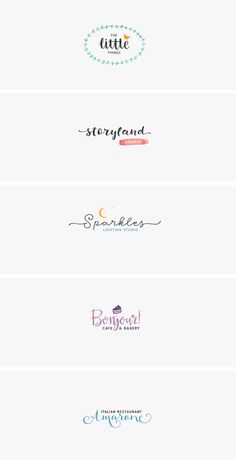 Free handwritten style logos and watercolor pattern along with a nice fonts pairing :)