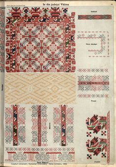 Folk Embroidery, Learn Embroidery, Embroidery Patterns, Textile Patterns, Beading Patterns, Textiles, Scandinavian Embroidery, Palestinian Embroidery, Embroidery Techniques
