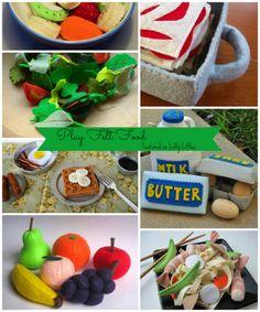 Awesome felt play food.  Includes a DIY!