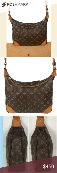 Louis Vuitton Monogram Boulogne Shoulder Bag Fabulous Louis Vuitton Monogram Boulogne shoulder bag. Comes with Letter of Authentication and dust bag shown. Monogram canvas is good no cracking or tears. Corners and piping are good. Leather trim and strap show some typical aging and discoloration. Zipper runs smooth.  Stitching is good. Date code reads as shown. Interior is cross grain leather and shows some normal wear. Interior zippered pocket is deteriorated and cannot be used. No trades 😃…
