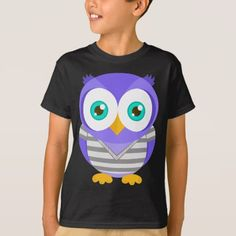 Larry the Purple Owl (Original) T-Shirt - tap, personalize, buy right now! Purple Owl, Larry, Fitness Models, The Originals, Casual, Fabric, Cotton, Mens Tops, T Shirt