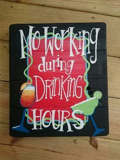 No drinking during working hours