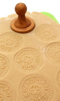 How to make a custom cookie stamp. What a great gift idea for the holidays!