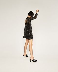 Image 4 of HIGH NECK SEQUINNED DRESS from Zara